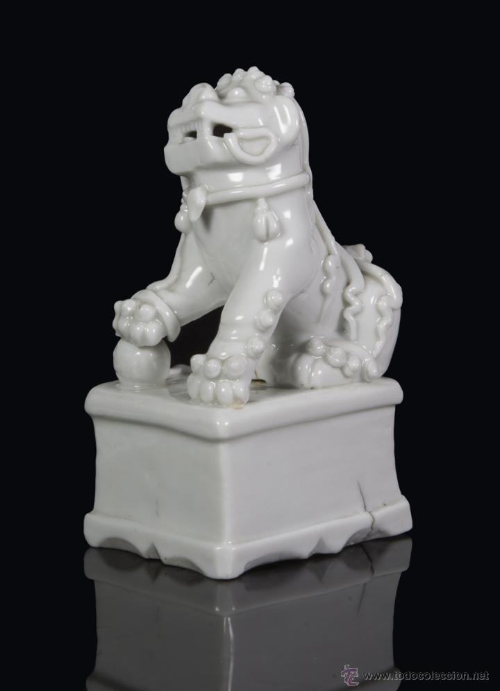Antigüedades: Leon de foo. China Blanc de chine. Siglo XVII - Foto 3 - 42317568
