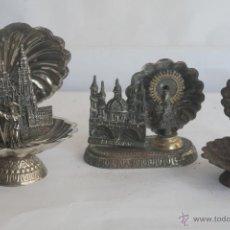 Antigüedades: CONCHAS RELIGIOSAS. VIRGEN DEL PILAR, CATEDRAL SANTIAGO Y SAN PANCRACIO. Lote 42324512
