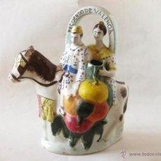 Antigüedades: ANTIGUO BOTIJO DE CERAMICA DE RECUERDO DE VALENCIA. Lote 42332875