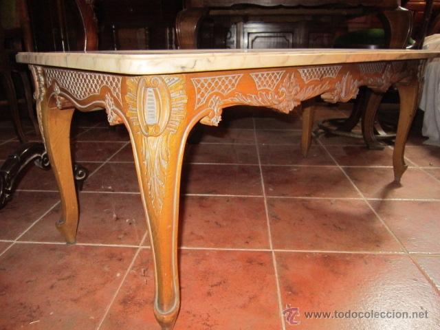 Mesa baja de sal n en madera de nogal estilo r comprar - Mesa baja salon ...