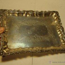 Antigüedades: ANTIGUA BANDEJA DE PLATA TRABAJADA. TIENE PATAS. PLATA .925 MLS (CON CONTRASTES). Lote 42352806