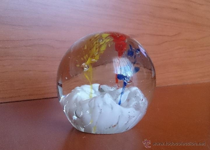 Antigüedades: Original pisapapeles en forma de bola de cristal de murano muticolor . - Foto 6 - 42353696