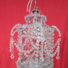 Antigüedades: MAGNIFICO FAROL DE CRISTALES, EN FUNCIONAMIENTO.. Lote 27588774