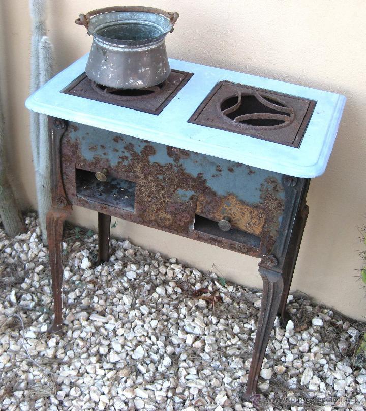 Cocina hierro francesa antigua mueble industria comprar for Cocina industrial hogar