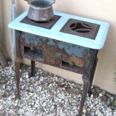 Antigüedades: COCINA HIERRO FRANCESA ANTIGUA MUEBLE INDUSTRIAL FORJA DECORACION POP RUSTICO VINTAGE. Lote 132259683
