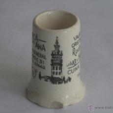 Antigüedades: PALILLERO ANTIGUO DE CERÁMICA SANTA ANA. Lote 42381756