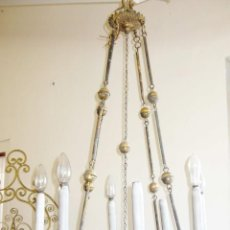 Antigüedades: BESTIAL LAMPARA GOTICA IGLESIA XVIII O XIX VOTIVA ORIGINAL BRONCE CANDELABRO ELECTRIFICADA CRISTA. Lote 42383985
