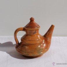 Antigüedades: TETERA CERAMICA VIDRIADA POPULAR. Lote 42385275