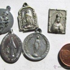 Antigüedades: 5 MEDALLITAS. Lote 42386777