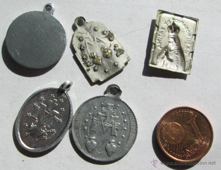 Antigüedades: 5 MEDALLITAS - Foto 2 - 42386777