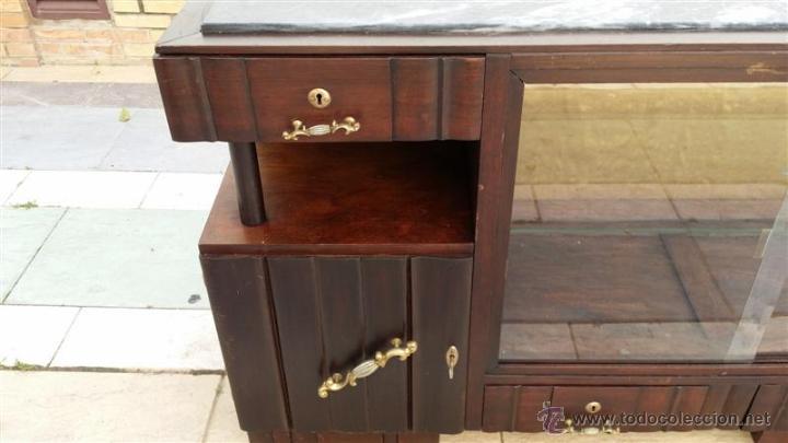 Antigüedades: mueble aparador vitrina ardeco - Foto 2 - 42389106