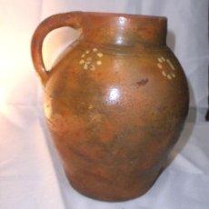Antigüedades: ANTIGUO PUCHERO DE BARRO CON UN ASA . Lote 42389307