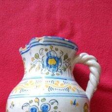 Antigüedades: ANTIGUA JARRA CERAMICA TALAVERA SASO CON ASA DE CORDON. Lote 42390187