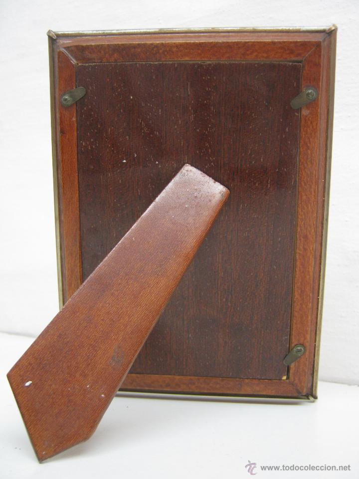 Antigüedades: Bello portafotos . Antiguo marco porta fotos - Foto 3 - 42403353