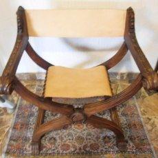 Antigüedades: SILLON FRAILERO, JAMUGA, SILLON CASTELLANO. Lote 42408423