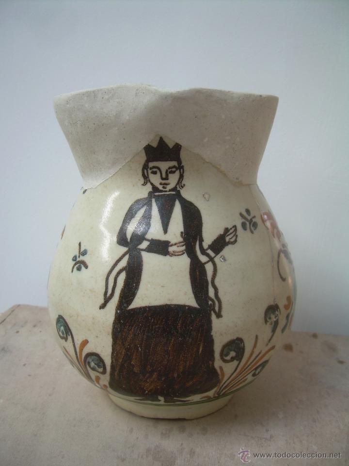 JARRA DE BOLA 1890-1910 JARRA CERÁMICA, JARRA DE LOZA, JARRA PORCELANA. (Antigüedades - Porcelanas y Cerámicas - Otras)