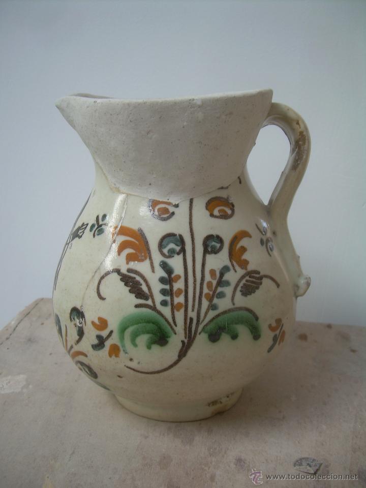Antigüedades: Jarra de bola 1890-1910 jarra cerámica, jarra de loza, jarra porcelana. - Foto 3 - 42419477