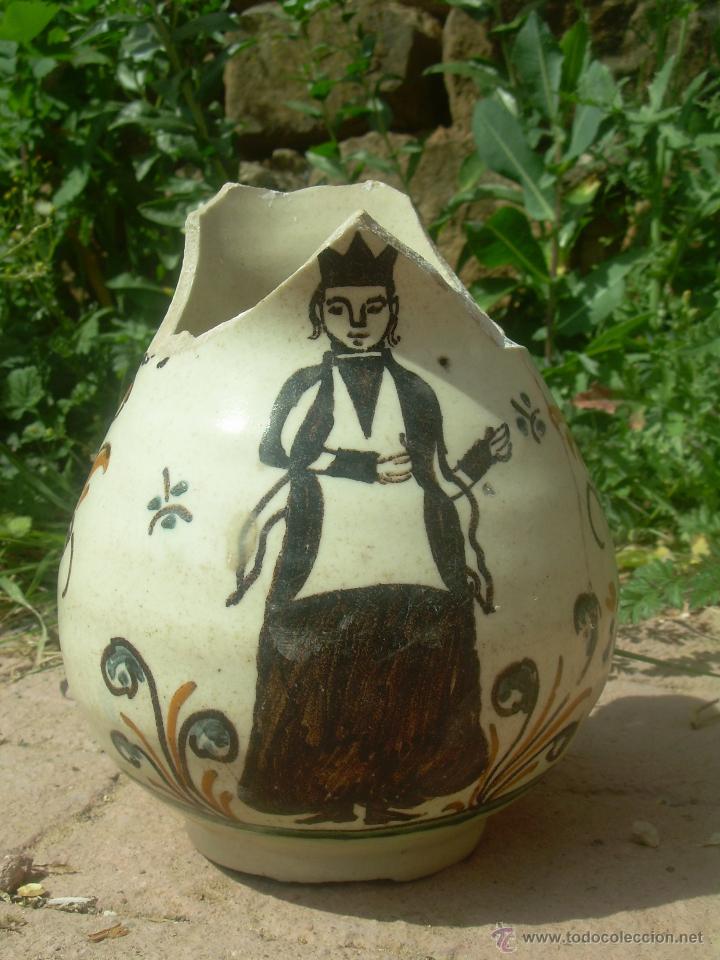 Antigüedades: Jarra de bola 1890-1910 jarra cerámica, jarra de loza, jarra porcelana. - Foto 7 - 42419477