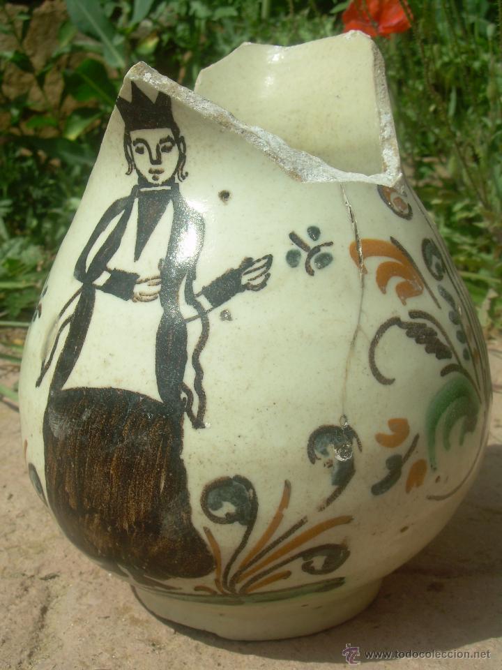 Antigüedades: Jarra de bola 1890-1910 jarra cerámica, jarra de loza, jarra porcelana. - Foto 8 - 42419477