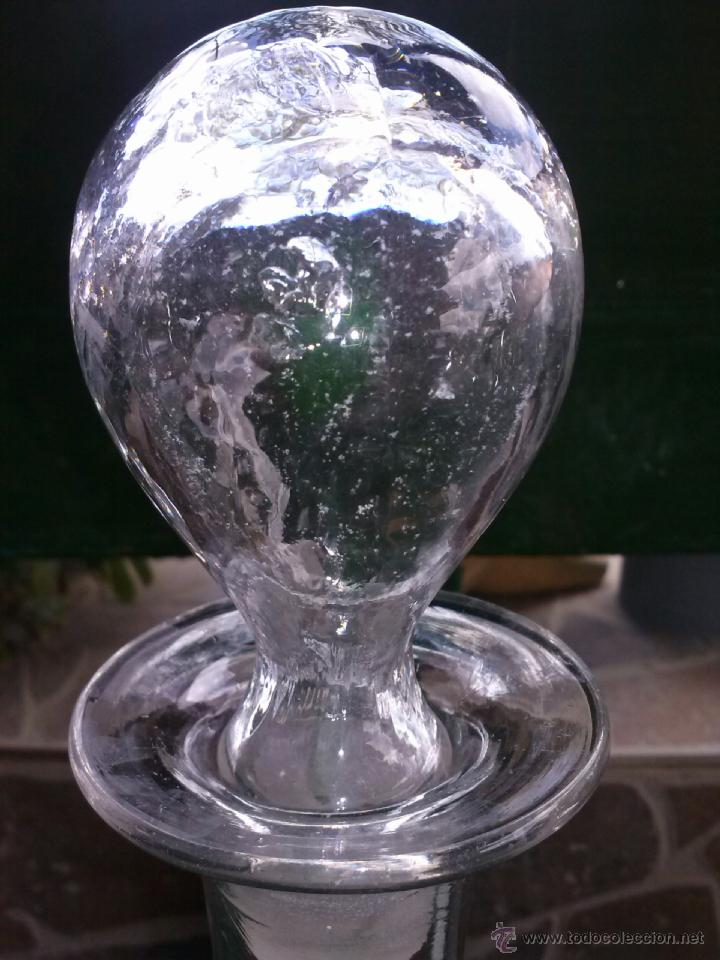 Antigüedades: antigua botella de cristal santa lucia cartagena. - Foto 3 - 42426561