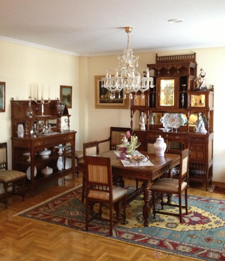 Conjunto muebles comedor madera cerezo princi comprar for Muebles de comedor antiguos