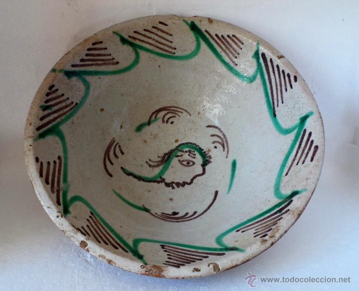 CUENCO DE CERAMICA DE TERUEL. S. XIX - EN BUEN ESTADO SIN PELOS NI RESTAURACIONES (Antigüedades - Porcelanas y Cerámicas - Teruel)