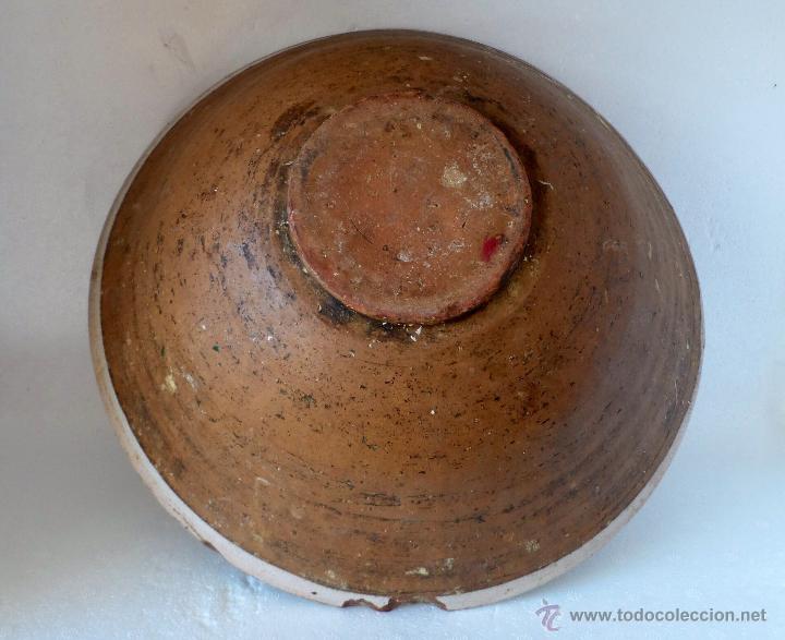 Antigüedades: CUENCO DE CERAMICA DE TERUEL. S. XIX - En buen estado sin pelos ni restauraciones - Foto 2 - 42436478