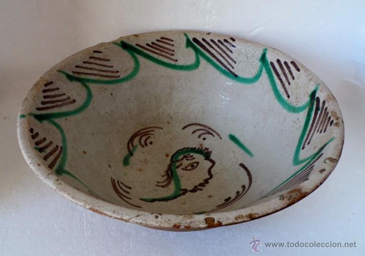 Antigüedades: CUENCO DE CERAMICA DE TERUEL. S. XIX - En buen estado sin pelos ni restauraciones - Foto 3 - 42436478
