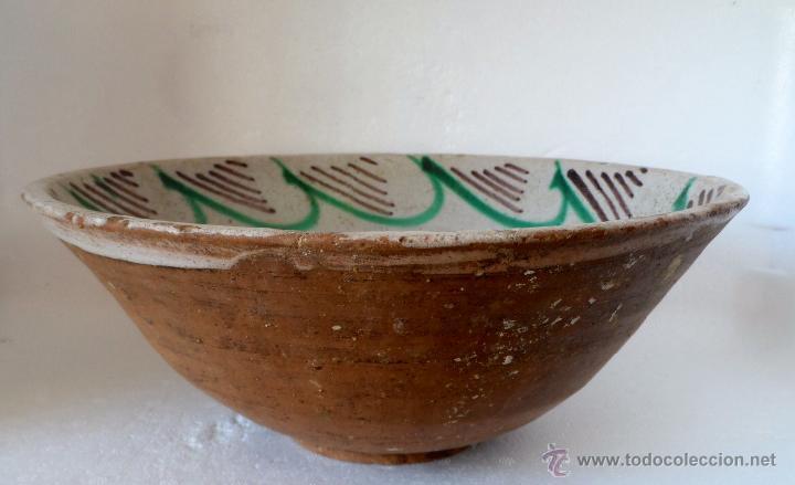 Antigüedades: CUENCO DE CERAMICA DE TERUEL. S. XIX - En buen estado sin pelos ni restauraciones - Foto 5 - 42436478