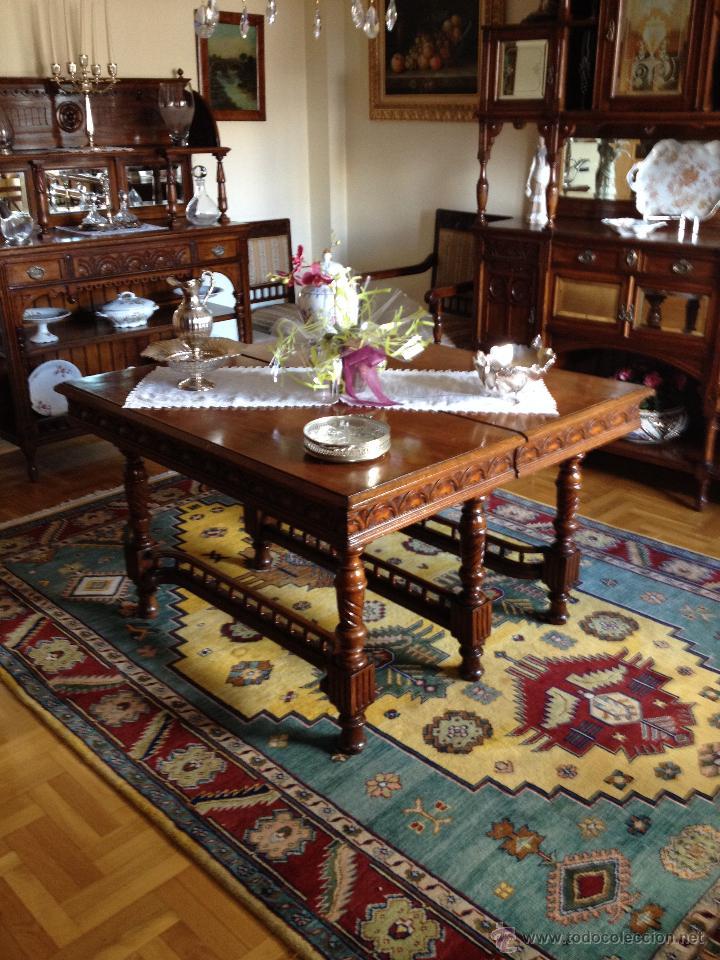 Conjunto muebles comedor madera cerezo princi comprar for Conjunto muebles comedor
