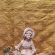 Antigüedades: FIGURA CENTRO NIÑA ALDEANA. Lote 42437904