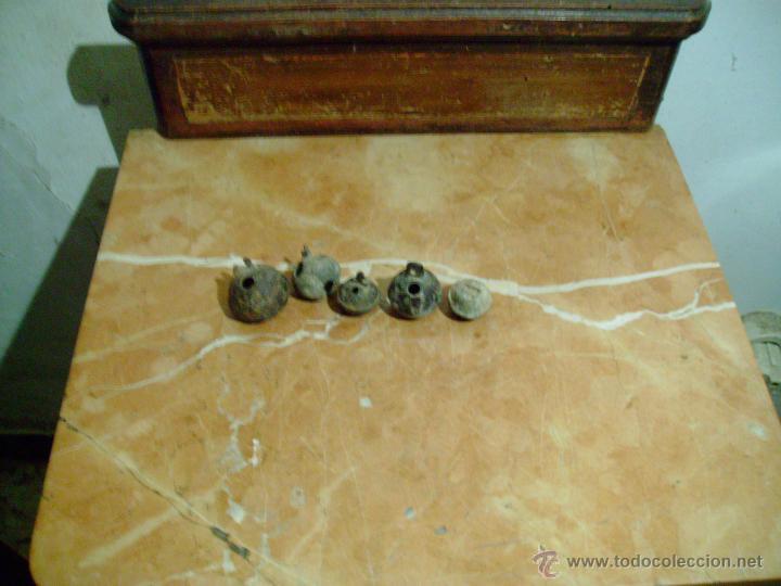 LOTE 5 CASCABELES ANTIGUOS. (Antigüedades - Técnicas - Rústicas - Ganadería)