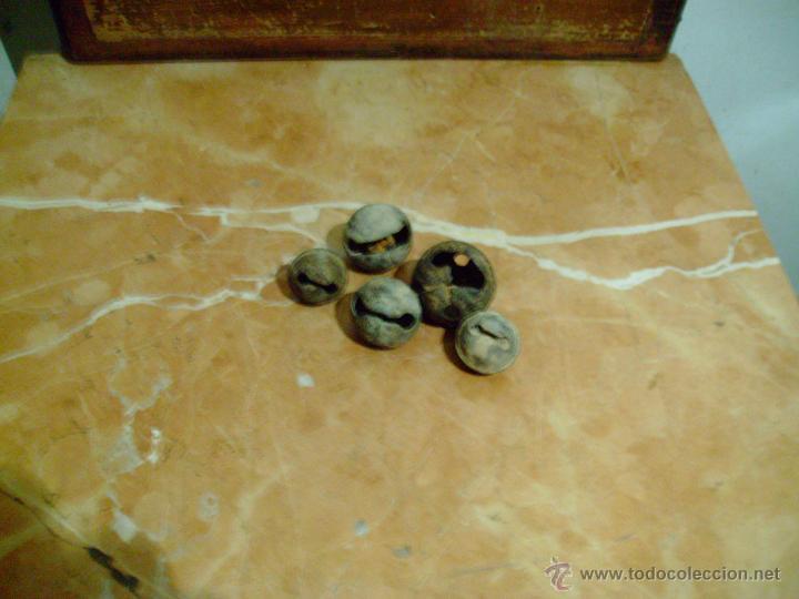 Antigüedades: lote 5 cascabeles antiguos. - Foto 3 - 42443737