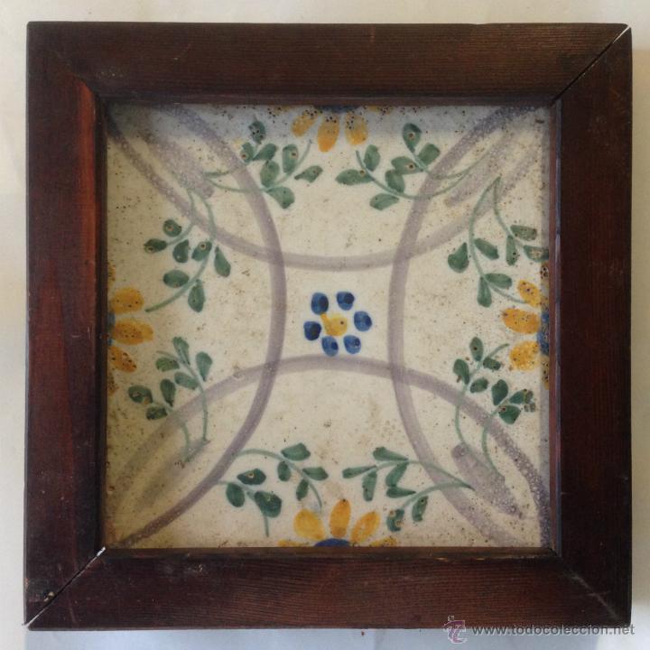 AZULEJO VALENCIANO ( ALCORA ? ) SIGLO XVIII (Antigüedades - Porcelanas y Cerámicas - Alcora)