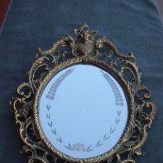 Antigüedades: ESPEJO CON MARCO DE BRONCE.. Lote 42459987
