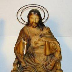 Antigüedades: ANTIGUA FIGURA DEL SAGRADO CORAZON DE JESUS.. Lote 42463097