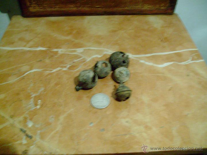 Antigüedades: lote 5 cascabeles antiguos. - Foto 4 - 42443737
