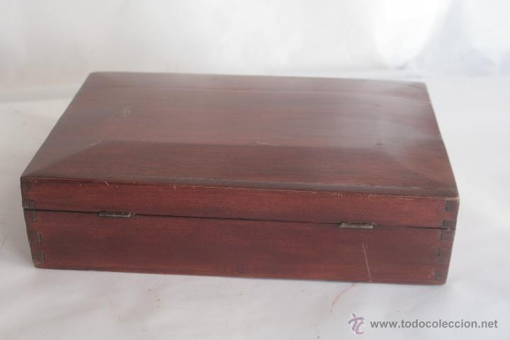 Antigüedades: PRECIOSA CAJA DE CAOBA - Foto 2 - 42469178