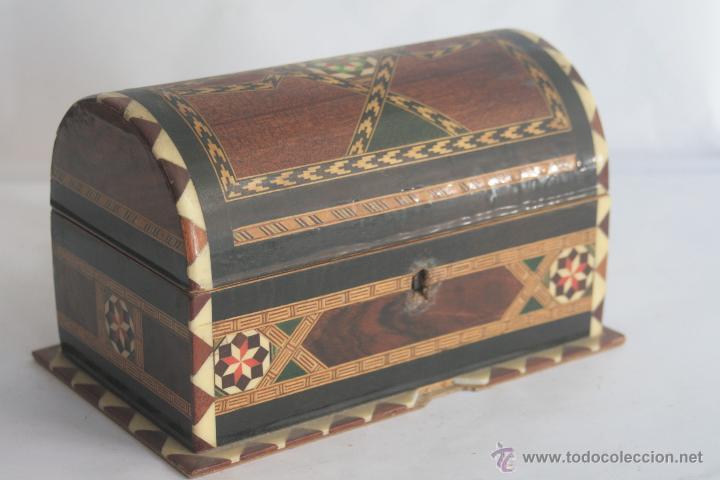 COFRE DE TARACEA (Antigüedades - Hogar y Decoración - Cajas Antiguas)