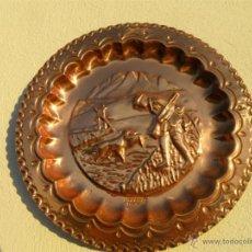 Antigüedades: PLATO DE COBRE. Lote 42506723