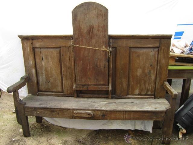 Banco o esca o de madera del s xix para restau comprar for Sillones antiguos