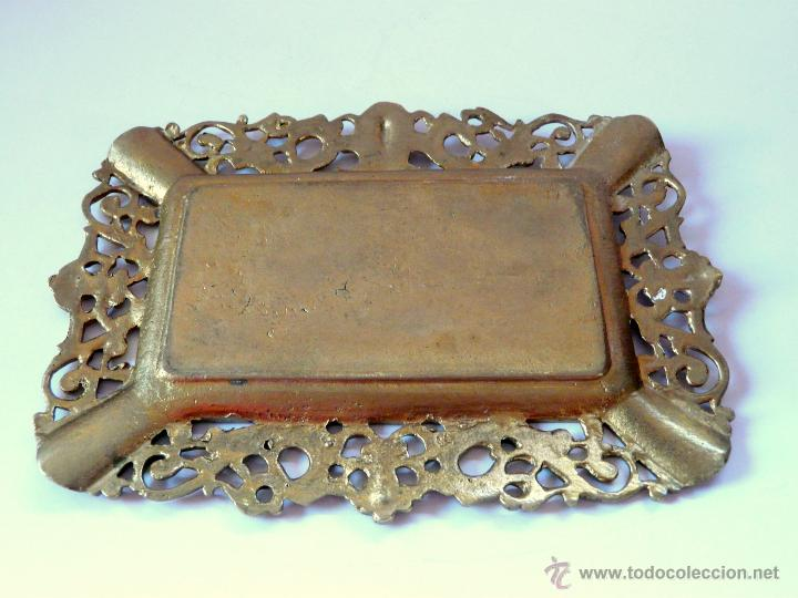 Antigüedades: ANTIGUO CENICERO DE BRONCE MACIZO CON RELIEVE DON QUJOTE Y SANCHO PANZA - Foto 5 - 42509663