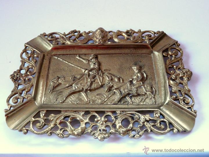 Antigüedades: ANTIGUO CENICERO DE BRONCE MACIZO CON RELIEVE DON QUJOTE Y SANCHO PANZA - Foto 7 - 42509663