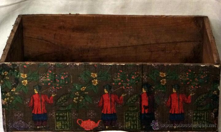 Antigüedades: antigua caja decorada al estilo antiguo, recolección del té verde. - Foto 2 - 42514470