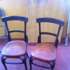 Antigüedades: PAREJA DE SILLAS TIPO THONET. Lote 42514559