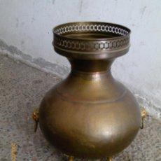 Antigüedades: GRAN JARRON DE LATON DORADO. Lote 42523429