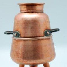 Antigüedades: PARTE ALAMBIQUE COBRE CON ASAS DE HIERRO S XVIII. Lote 42523523