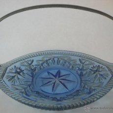 Antigüedades: ANTIGUO CENTRO DE CRISTAL GRABADO 32 X 24,5 CM.. Lote 42527067