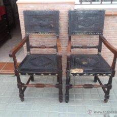 Antigüedades: PAREJA DE SILLONES ANTIGUOS. Lote 42527099