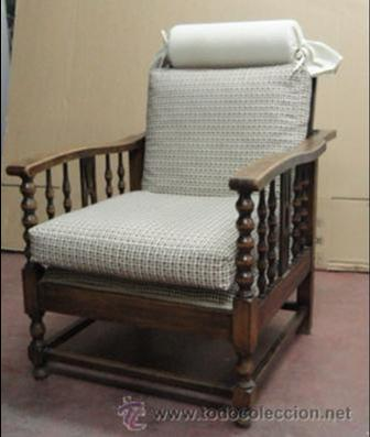 Pareja de sillones morris ingleses reclinables comprar for Sillones clasicos ingleses